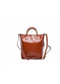 Коричневая сумка для женщин кожаная GR-8848LB