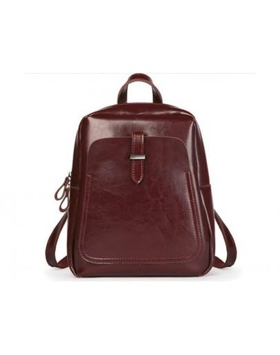 Фотография Бордовый женский кожаный рюкзак GR-8860BO