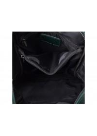 Зеленый женский кожаный рюкзак GR-8860GR