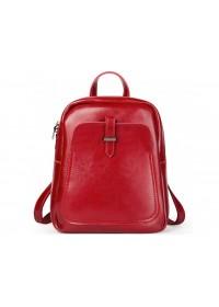 Красный женский кожаный рюкзак GR-8860R