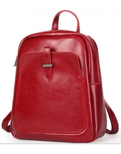 Фотография Красный женский кожаный рюкзак GR-8860R