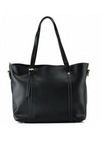 Кожаная черная женская деловая сумка GR3-172A