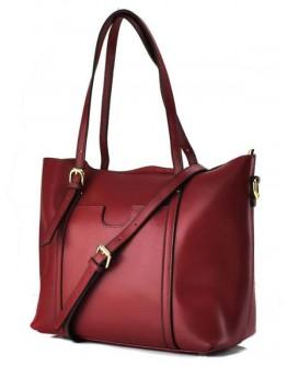 Женская красная кожаная деловая сумка GR3-172BO