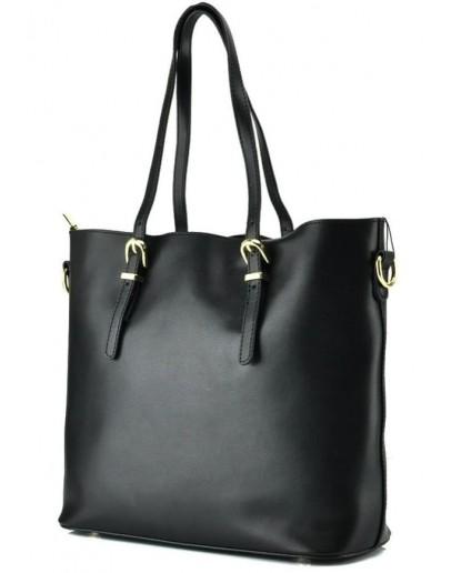 Фотография Кожаная сумка черного цвета для женщин GR3-173A