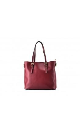 Красная женская кожаная деловая сумка GR3-173BO