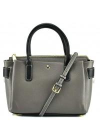 Серая женская кожаная сумка GR3-5019GA