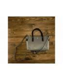 Фотография Серая женская кожаная сумка GR3-5019GA