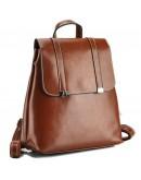 Фотография Коричневый женский кожаный рюкзак GR3-6095LB-BP