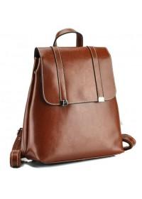 Коричневый женский кожаный рюкзак GR3-6095LB-BP
