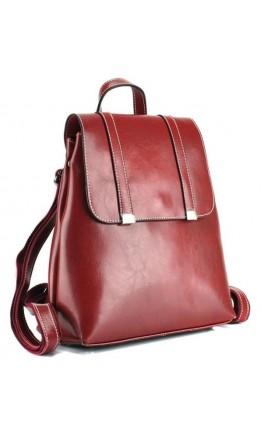 Кожаный красный женский рюкзак GR3-6095R-BP