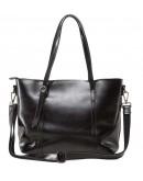 Фотография Женская сумка кожаная черного цвета GR3-6101A
