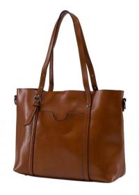 Коричневая удобная женская сумка GR3-6101LB