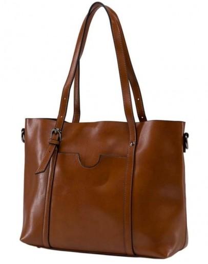 Фотография Коричневая удобная женская сумка GR3-6101LB