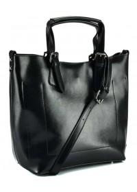 Черная удобная женская кожаная сумка GR3-6103A