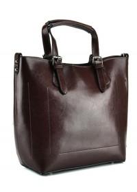 Женская удобная коричневая кожаная сумка GR3-6103B