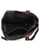Фотография Женская удобная коричневая кожаная сумка GR3-6103B