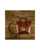 Фотография Кожаная женская рыжая удобная сумка GR3-6103LB