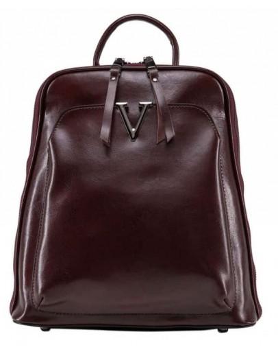 Фотография Женский рюкзак кожаный бордового цвета GR3-801BO-BP