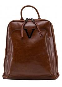Коричневый женский кожаный рюкзак GR3-801LB-BP