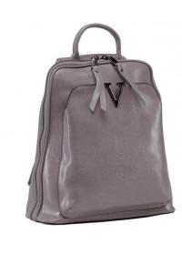 Серый женский кожаный рюкзак GR3-801LG-BP