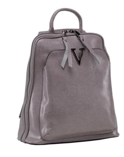 Фотография Серый женский кожаный рюкзак GR3-801LG-BP