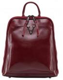 Фотография Красный рюкзак женский из натуральной кожи GR3-801R-BP