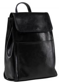 Черный женский рюкзак кожаный GR3-806A-BP
