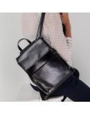 Фотография Черный женский рюкзак кожаный GR3-806A-BP