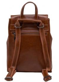 Кожаный коричневый женский рюкзачек GR3-806LB-BP