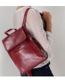 Фотография Красный кожаный женский рюкзак GR3-806R-BP