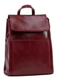 Красный кожаный женский рюкзак GR3-806R-BP