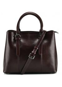 Темно-коричневая женская кожаная сумка GR3-857B