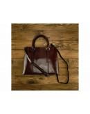 Фотография Темно-коричневая женская кожаная сумка GR3-857B