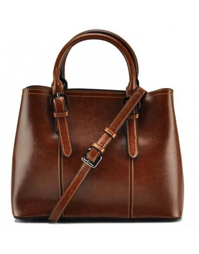 Фотография Женская кожаная рыжая сумка GR3-857LB