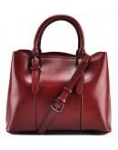 Фотография Кожаная женская сумка красного цвета GR3-857R
