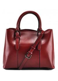 Кожаная женская сумка красного цвета GR3-857R