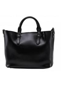 Женская кожаная сумка черного цвета GR3-8683AM
