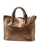 Фотография Женская кожаная сумка золотого цвета GR3-8683BGM