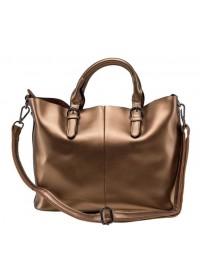 Женская кожаная сумка золотого цвета GR3-8683BGM