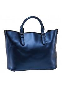 Синяя кожаная женская сумка GR3-8683BLM
