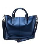 Фотография Синяя кожаная женская сумка GR3-8683BLM