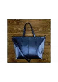 Кожаная женская сумка синего цвета GR3-8687BLM
