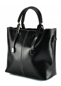 Женская черная удобная кожаная сумка GR3-872A