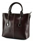 Фотография Коричневая сумка женская кожаная GR3-872B
