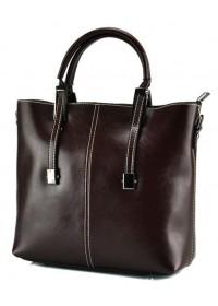 Коричневая сумка женская кожаная GR3-872B
