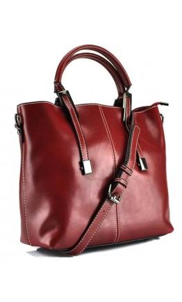 Красная кожаная женская деловая сумка GR3-872R
