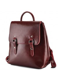 Рюкзак женский кожаный красный GR3-9036R-BP