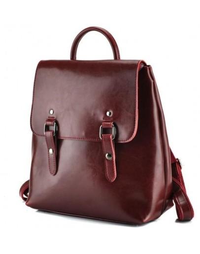 Фотография Рюкзак женский кожаный красный GR3-9036R-BP