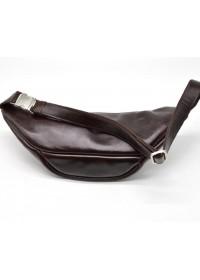 Кожаная мужская сумка на пояс бордовая Tarwa GX-3036-4lx