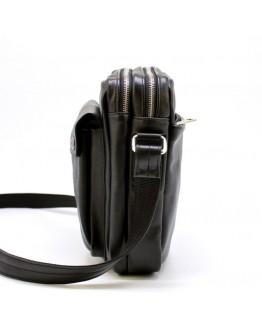 Кожаный мужской черный мессенджер Tarwa Ga-60122-3md